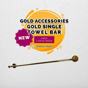 Wasserbath - Gold Fitting(Gold Single Towel Bar)