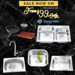 Wasserbath Sink & Mixer $99 Promo as01102019