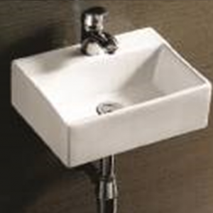 WT 3047                                               Wall Hung Basin                         (375x300x115mm)