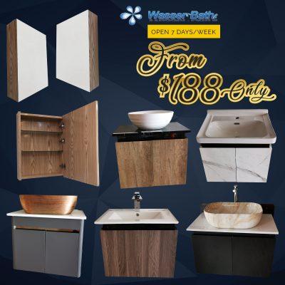 Wasserbath Cabinet $188 Promo