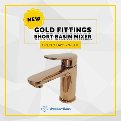 Wasserbath - Gold Fitting(Short Basin Mixer)
