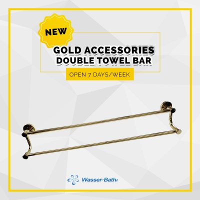 Wasserbath - Gold Products-Double Towel Bar