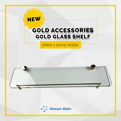 Wasserbath - Gold Products-Gold Glass Shelf