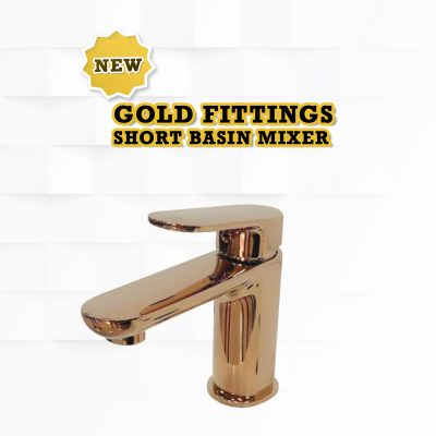Wasserbath - New Gold Fitting Short Mixer Tap