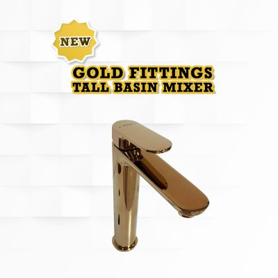 Wasserbath - New Gold Fitting Tall Mixer Tap
