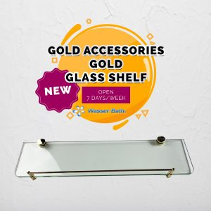 Wasserbath - Gold Fitting(GOLD ACCESSORIES GOLD GLASS SHELF)