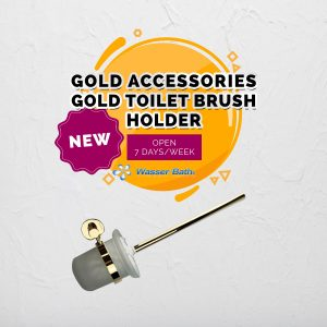 Wasserbath - Gold Fitting(Gold Toilet Brush Holder)