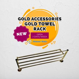 Wasserbath - Gold Fitting(Gold Towel Rack)