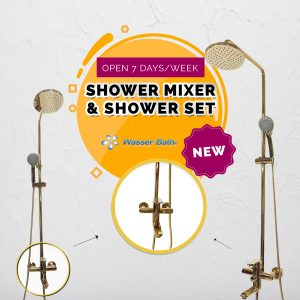 Wasserbath - Gold Fitting(Shower Mixer)