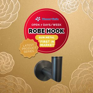Wasserbath - Gun Metal-Robe Hook