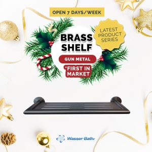 Wasserbath - Gun Metal(Brass Shelf)