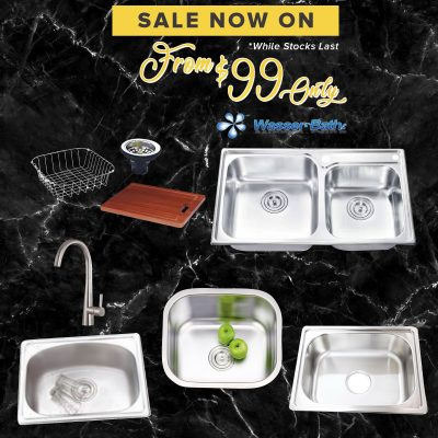 Wasserbath Sink & Mixer $99 Promo as01102019