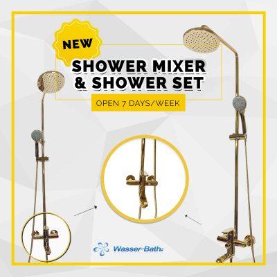 Wasserbath - Gold Fitting(Shower Mixer)