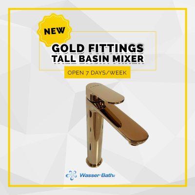 Wasserbath - Gold Fitting(Tall Basin Mixer)