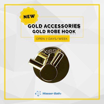Wasserbath - Gold Products -Gold Robe Hook