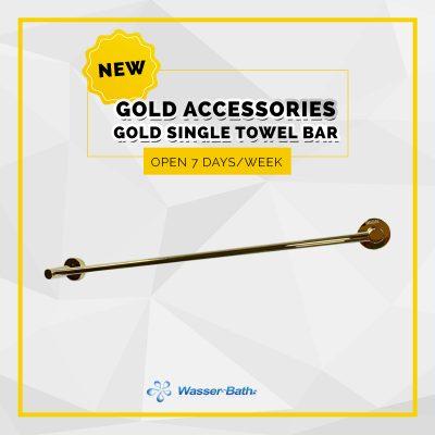 Wasserbath - Gold Products-Gold Single Towel Bar