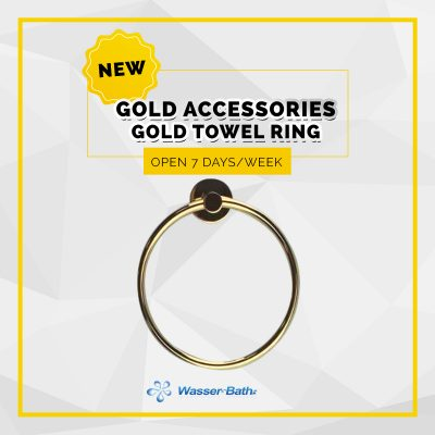 Wasserbath - Gold Products-Gold Towel Ring