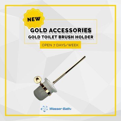 Wasserbath - Gold ProductsGOLD Toilet Brush Holder